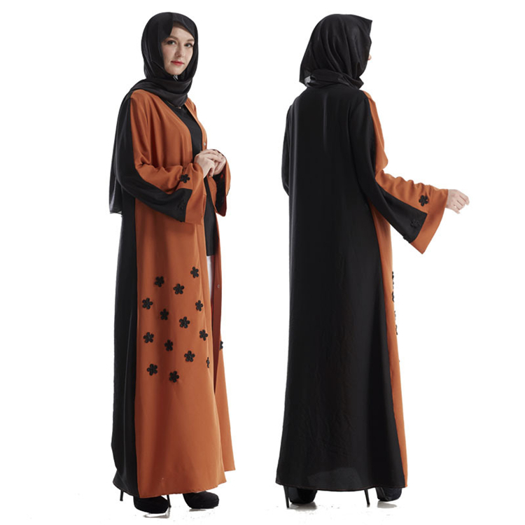 A3296 China Ready Stocks wholesale Muslim Clothing Morrocan Open Abaya Kimono Fashion Dubai Linen Abaya