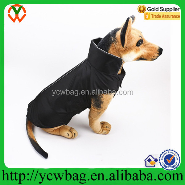 reflective dog jacket waterproof polyester pet life jacket