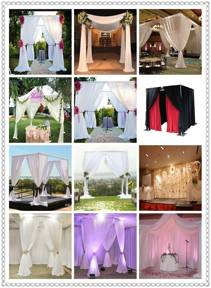 Wedding decoration equipment backdrop polealuminum pipe drape wedding decoration equipment backdrop polealuminum pipe drape kits curtain rods junglespirit Images
