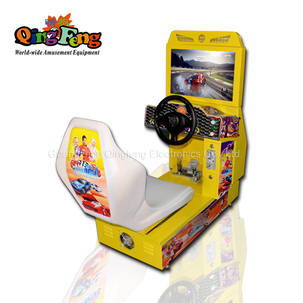 qingfeng indoor coin operated 42 LCD FF motor driving simulator car racing arcade street game machine