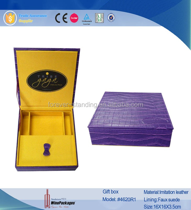 Luxury leather chocolate packaging box cardboard gift box
