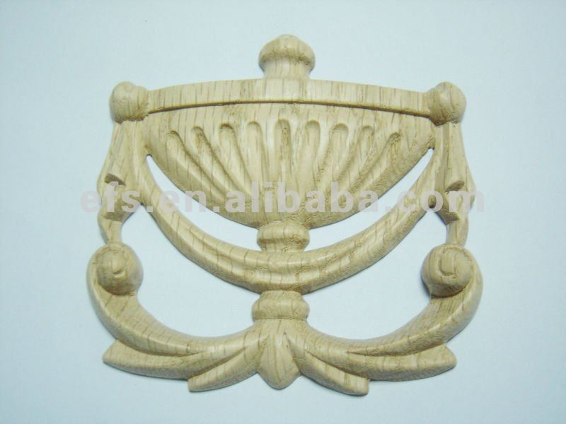 Red oak wooden carving onlay EFS-A-ON15
