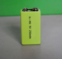 High quality 6f22 9v battery 250mAh rechargeable nimh battery