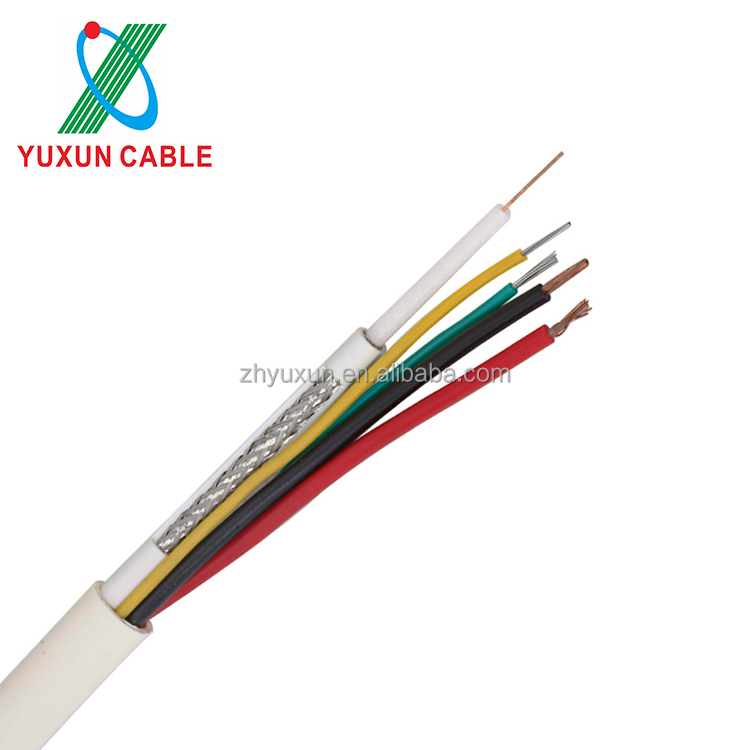 75ohm 4 In 1 CCTV Camera Cable RG59 Coaxial Cable 5 Core