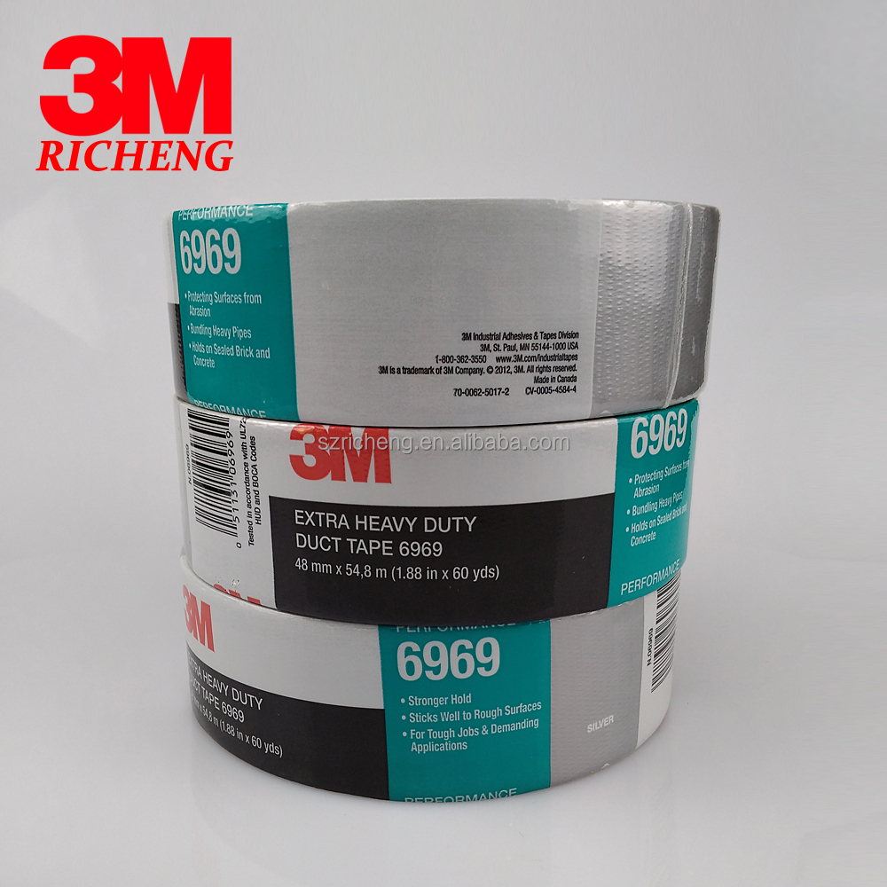 3m 6969 Adhesive Duct Tape/duct Sealing/proofing Tape/48mm*54 8m - Buy  Adhesive Duct Tape,Duct Tape Products,Black Tape Product on Alibaba com