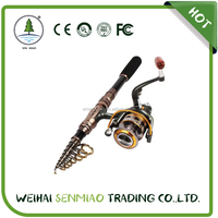 Spinning Telescopic Portable Fishing Rod Combos Travel Carbon Fishing Rod and Reel Set
