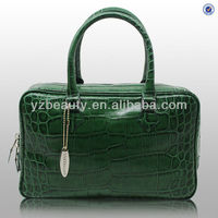 Lates design green crocodile leather ladies briefcase