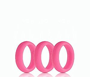 Silicone Wedding Ring Set - 3 Medical Grade Rubber Wedding Bands For Men & Women + These Plastic Rings Are Perfect for Crossfit, the Gym, or Work.