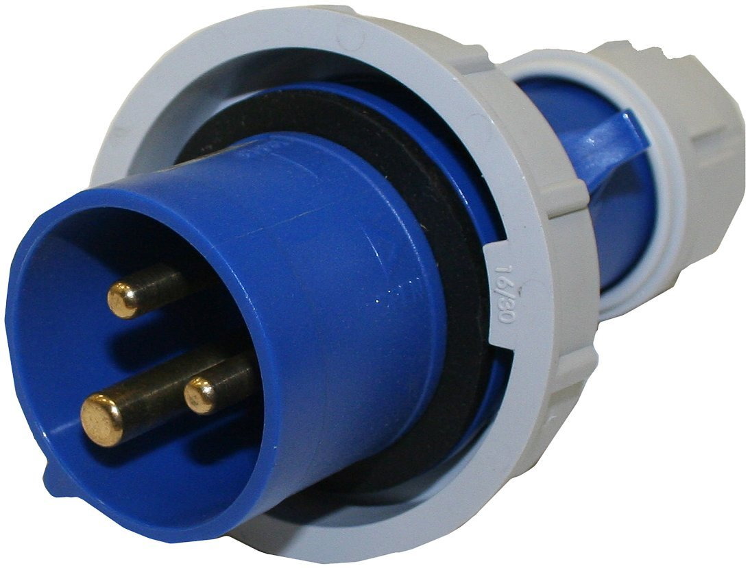 120//208VAC Voltage Interpower 84151203 IEC 60309 High Power Plug Red 6 Hour Designation 20A Rating Five Wire Four Pole