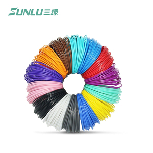 10m abs 3D pen filaments 10m/color PE,20 colors ABS in beautifully vacuumed bag with colorful 3D filaments