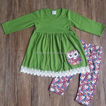 Autumn and Winter New Pure Blouse Skirt Printed Trousers and Children's Wear Wholesale High Quality Cotton Suit