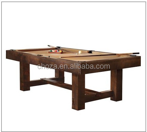 F50390A-1 high quality solid wood snooker dining pool table