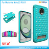 Wholesale Shockproof Bling Diamond Hard Cases For Motorola Moto Z2 Play PC Silicone Case