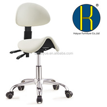 High Quality Hydraulic Saddle Esthetician Chair with Backrest Black Stool with Back Salon Stool Factory Wholesale