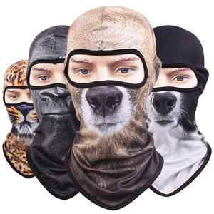 wholesale animal printed full face balaclava mask custom printed ski mask