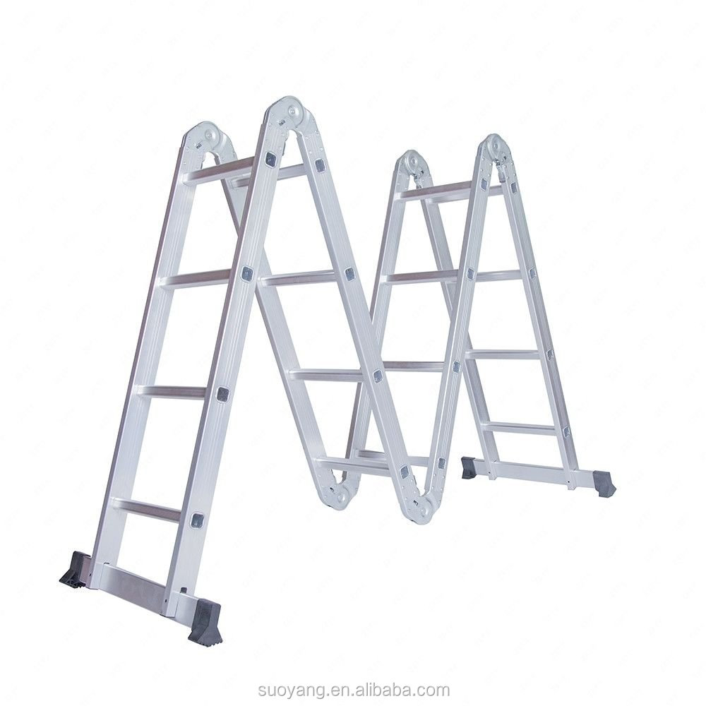 2017 Super September Aluminium Multi-Purpose Ladder, Folding Ladder, Aluminum Ladder hydraulic folding attic ladders