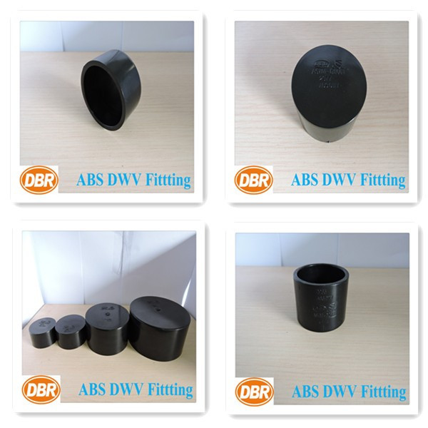 Plastic ABS DVW fitting Hot Selling DBR CUPC & ASTM 4 inch sch40 Pipe End Screw Caps