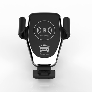 Black 5W 10W Qi car wireless charger for iPhone , for Samsung