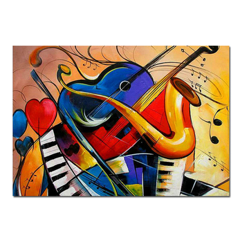 Popular Home Goods Modern Abstract Wall Art Painting Of Musical Instrument Buy Wall Art Of Musical Instrument Musical Instruments Painting Abstract