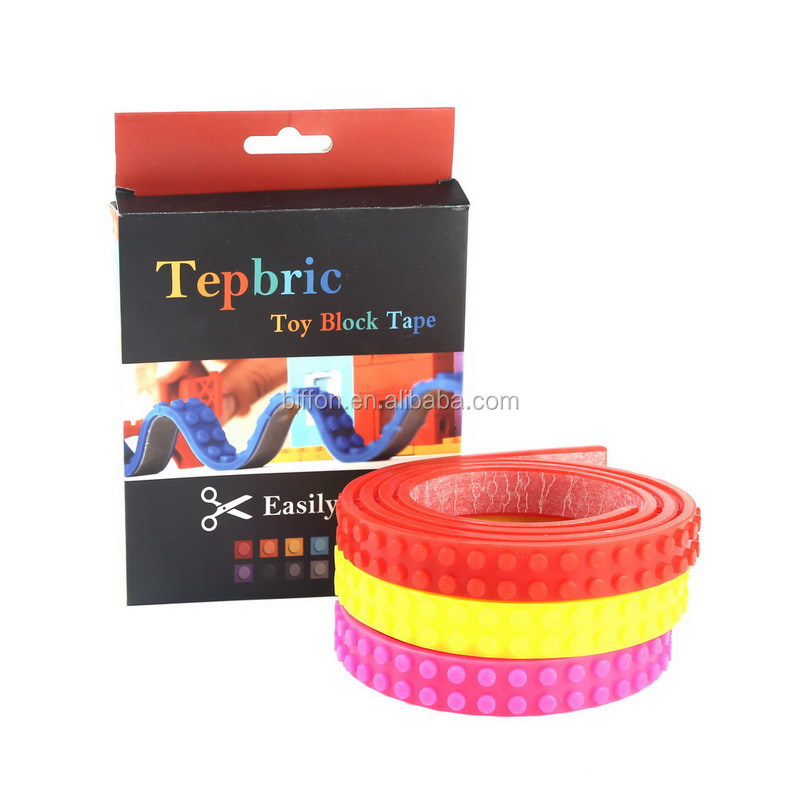 silicone legos tape Nimuno Loops educational toys sticky legos block toy tapes 10 colors to choose