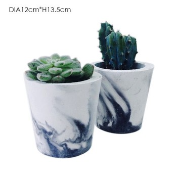 2016 new design natual colour marble homeware concrete garden flower pot