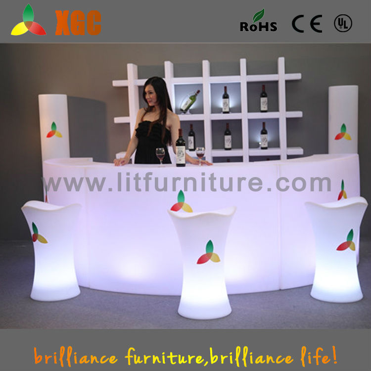 lit bar furniture/portable glow furniture/movable bars for events
