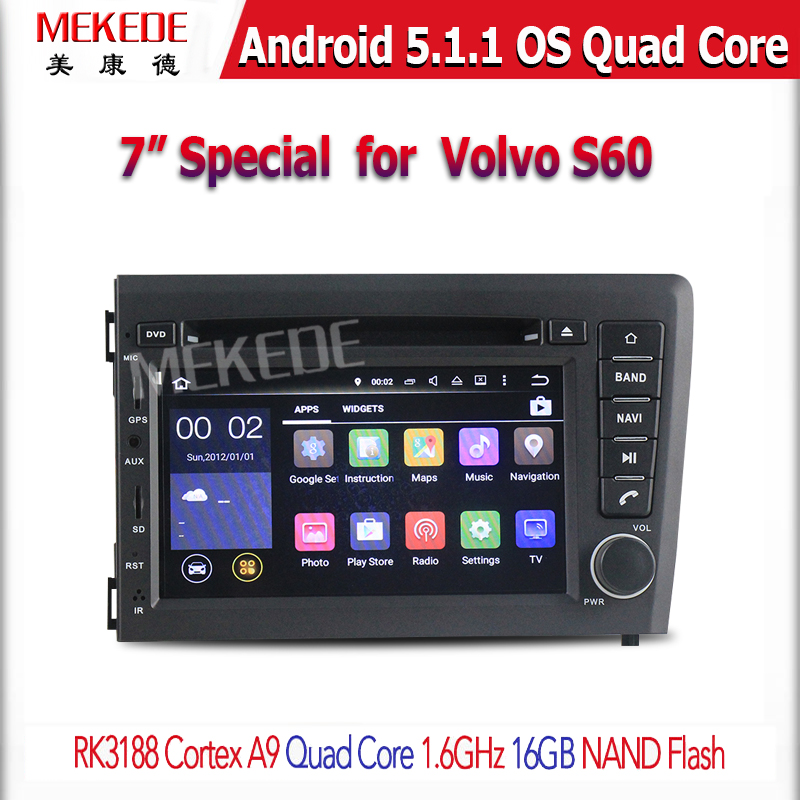 Android 5.1.1 Car DVD Player GPS Navigation for Volvo S60 V70 2001-2004 with Radio BT USB SD AUX WIFI Quad core