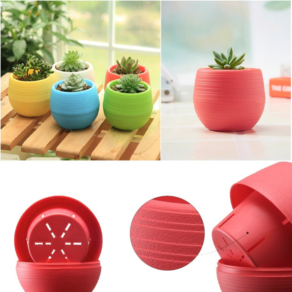 Office Decoration Plastic Flowerpot Planting Pots for Plants