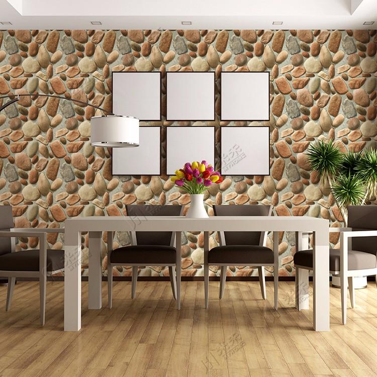 Largement Utilisé Pour Décoration De Pierre De Mur Intérieur 3d Brique  Papier Peint De Chine