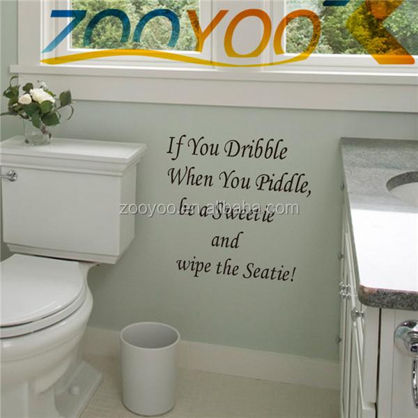 Toilet Badkamer Verwijderbare Kunst Muur Citaat Muurtattoo Badkamer ...