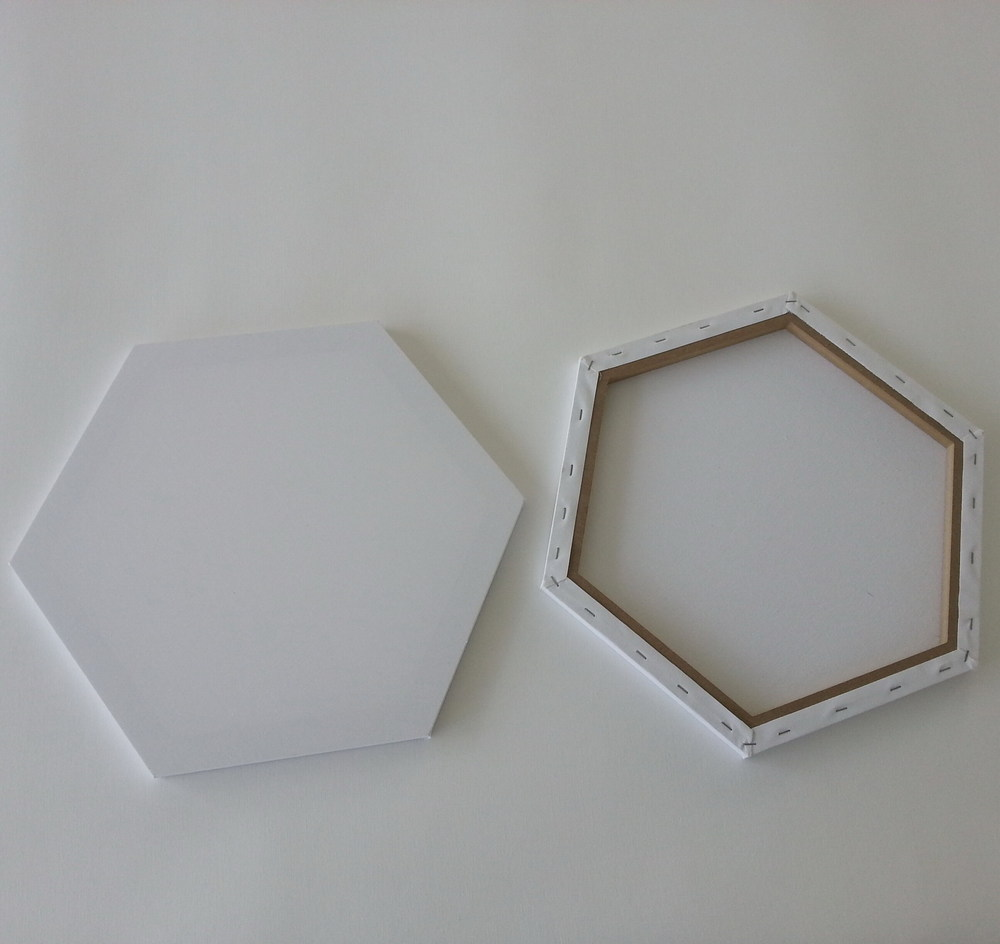 Heart Shaped Stretched Canvas - Buy Hexagon Stretched ...