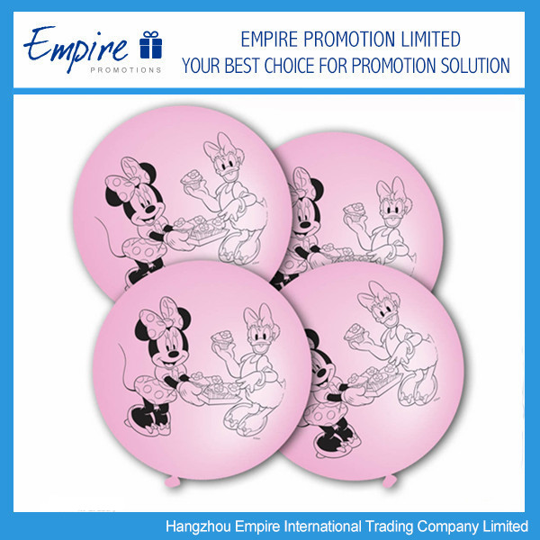 Promotional New Design Cute Pink Latex Punch Ball Balloons