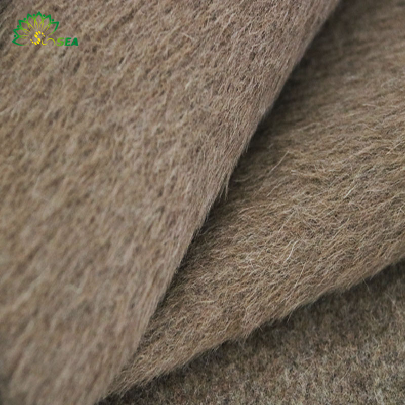 top grade 94%wool 6%alpaca brown mini alpaca double layer long alpaca mohair fleece wool fabric