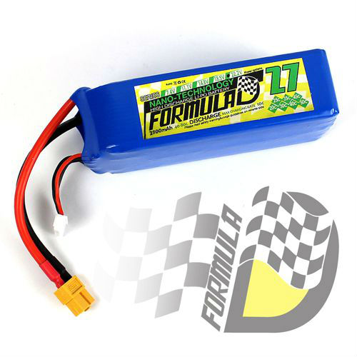 FORMULA-D lipo pack battery 2700mah 22.2V 6S 40C XT60 for RC Airplane