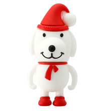 New design Christmas gift 3D PVC Dog USB flash drive