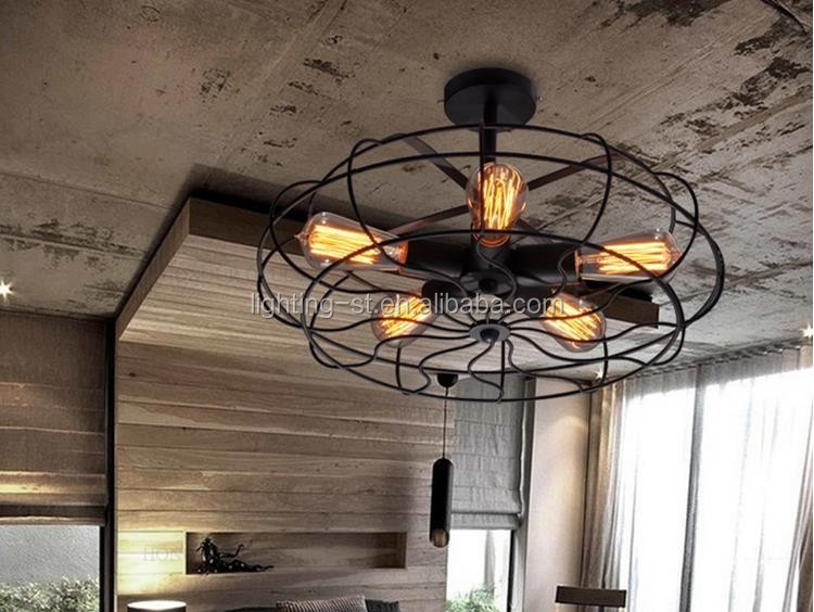Lampadario edison vintage: vintage lampadario in ferro creativa