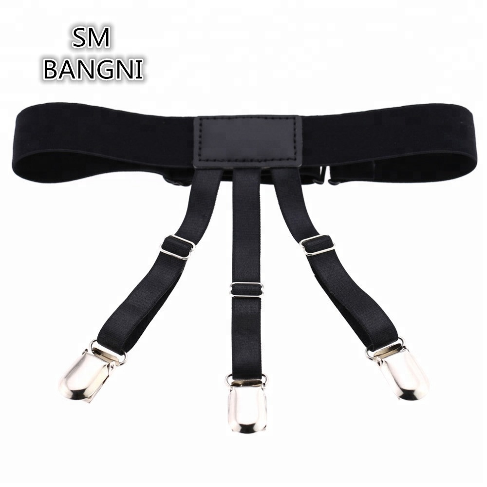 Non-slip Locking Clamps T Shirt Stay Suspenders Garter Elastic Braces Holders SM