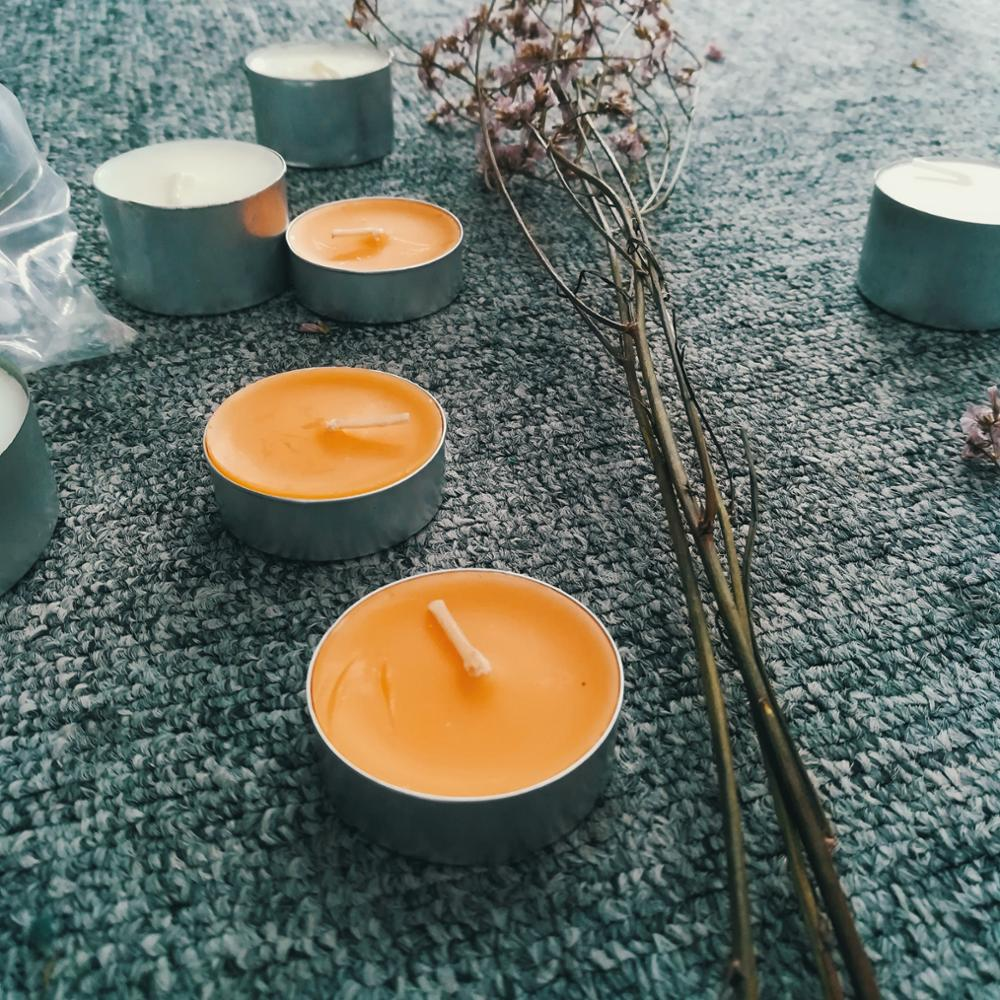 Scented bio natural soy wax alum cup classic tealight candle