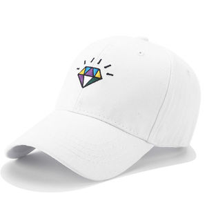 6 panel girls white embroidered wholesale one size fits all baseball caps