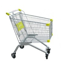 2016 Hot sale best quality Chrome plated/zinc plated /powder coated European Style Shopping Cart/trolley China factory