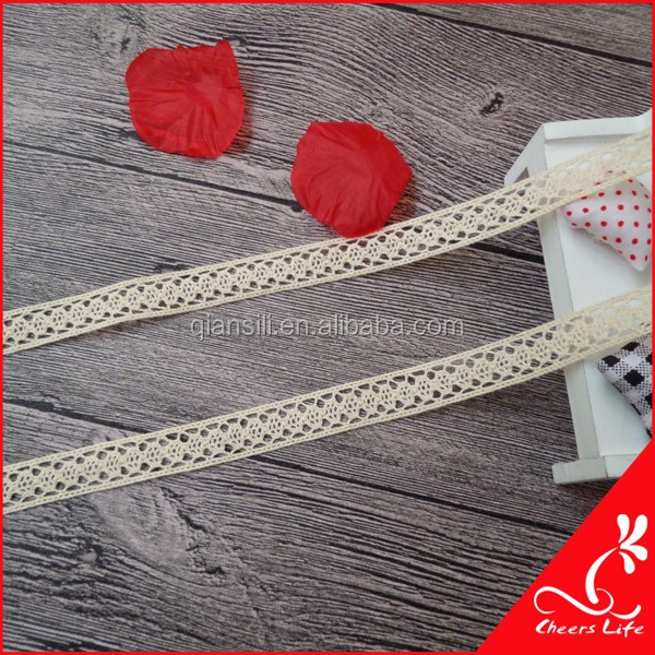 Cheerslife 1.4cm wide factory supply decorative 100% cotton lace trim F1659A