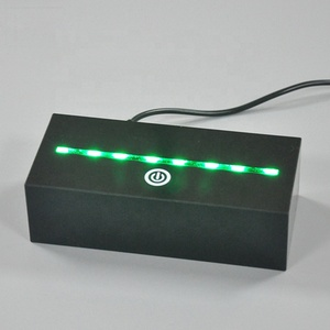 acrylic led light display stand with LED base/lighting display stand LED lit lighted edge sign