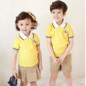 6e57a323 New Design Summer Kindergarten School Uniform High quality Polo Shirt and  Short