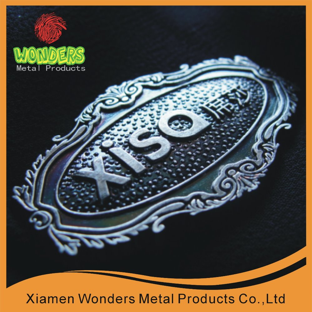 High-quality 3D metal furniture product nameplate label and <strong>logo</strong>