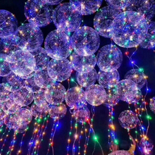 New bobo transparent ball design 18cm glow bulk wholesale giant party decorativ led lighting helium balloon
