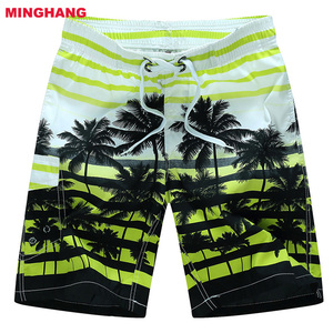 2018 New Mens Board Shorts Polyester Sports Beach Surf Shorts Men Quick Dry Sexy Beach Boardshorts Men