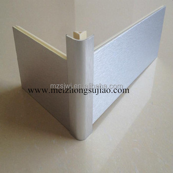 Brushed aluminum silver kitchen plinth plinth corners for Brushed aluminum kitchen cabinets