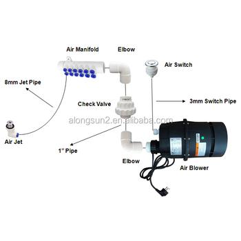 Ap400 V2 400w Whirlpool Spa Tub Air Blower Hot Tub Kit View 400w