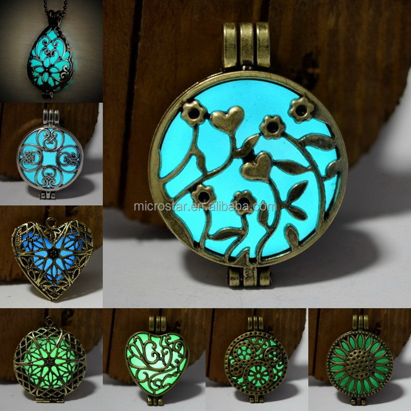 Jewelry Essential Oil Diffuser Glow In The Dark Necklace