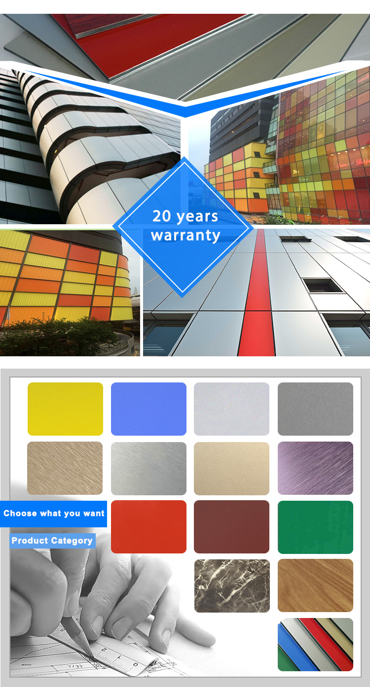 PET Aluminum Composite Panel for decoration with 3mm ACP sheets
